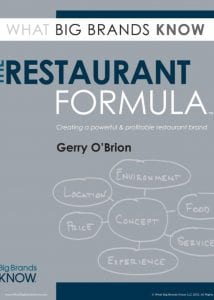 The Restaurant Formula by Gerry O'Brion